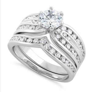 Jewelry - Sterling Silver Elegant Wedding Set